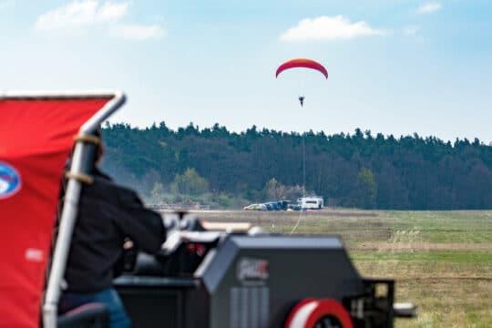Windenschleppeinweisung für Gleitschirm- und Drachenflieger